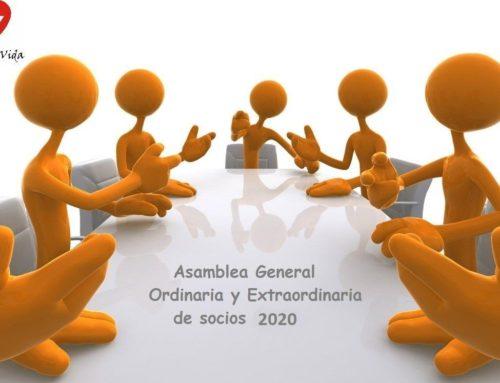 Convocatoria Asamblea General Ordinaria y Extraordinaria de Socios 2020