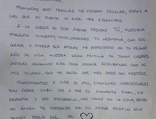 Carta de una madre tras trasplante de corazón de su bebé.